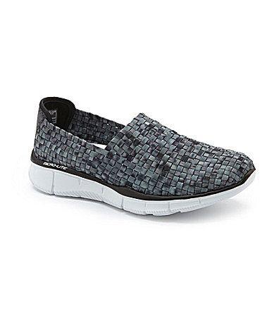 Skechers Equalizer-Vivid Dream Woven Slip On Sneakers mesh black/white  (54.99)