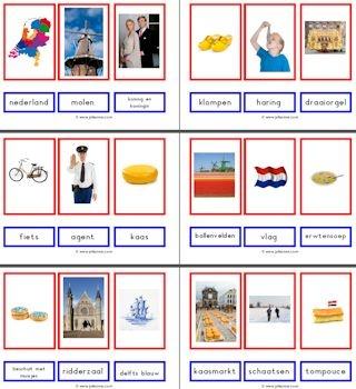Woordkaarten bij het thema Nederland - Juf Sanne
