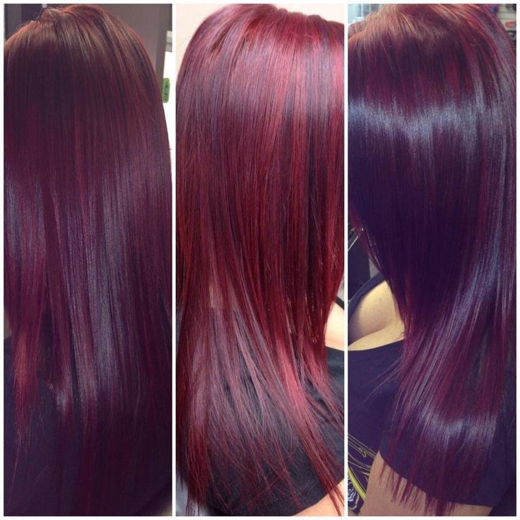 Red violet hair using Schwarzkopf color