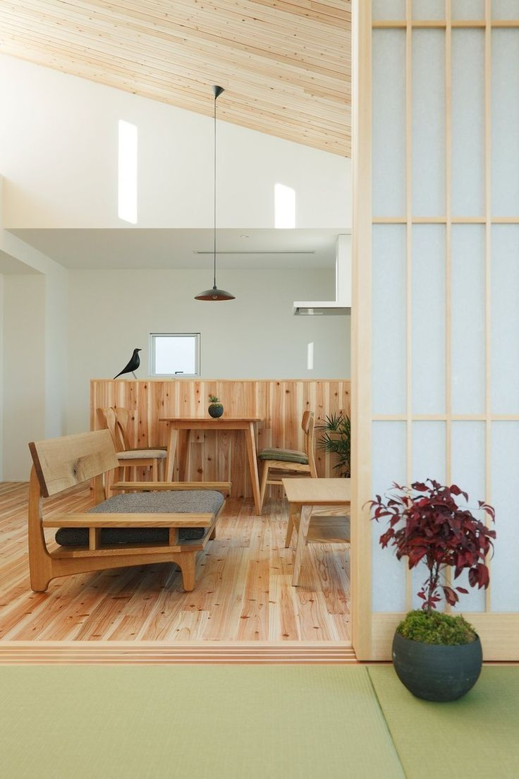 Ritto House by Alts Design Office / love the Japanese wood influence in the furniture and screens