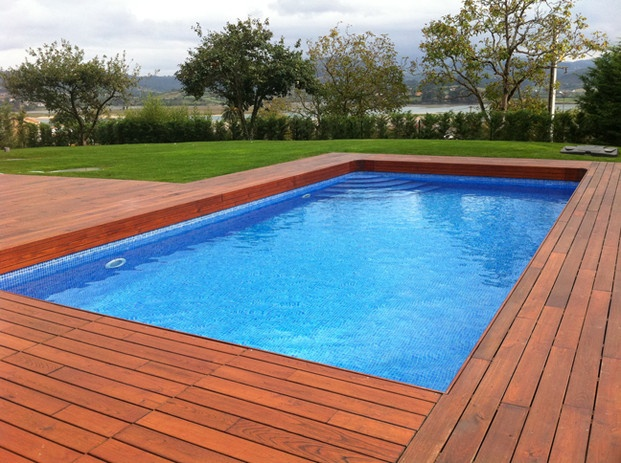 383 best images about piscinas on pinterest gardens for Piscine 8x4