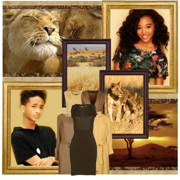 """Amandla Stenberg as young Kiara and Jaden Smith as young Kovu.""My father says never to turn your back on an Outsider!"" by snh3539 on Polyvore"