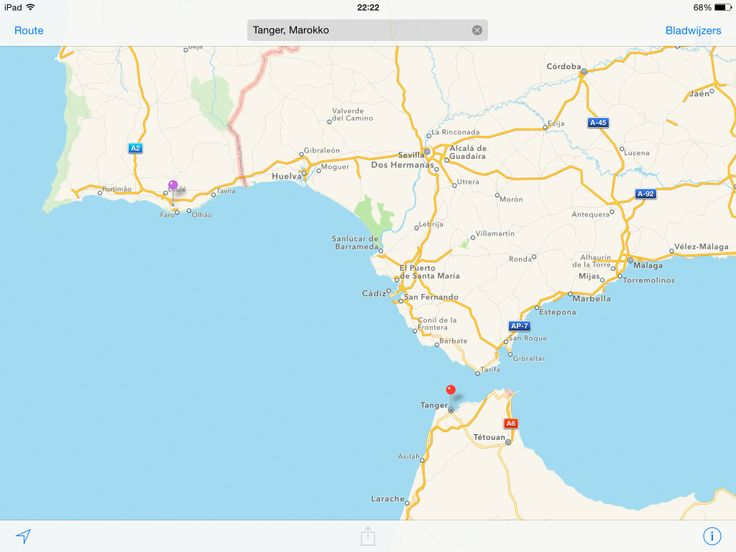 Kaart: Faro - Gibraltar - Tanger