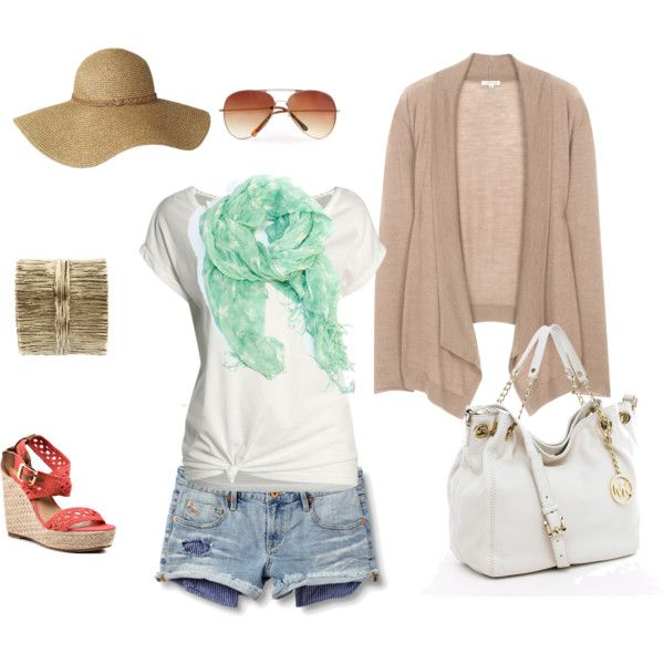 Casual Summer Brunch Outfit, created by elizanne-aldrich on Polyvore