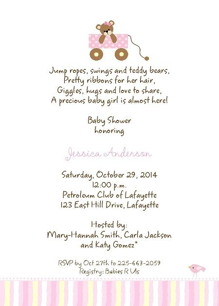 Best Invitations Images On Pinterest Baby Showers Shower - Baby girl shower invitation wording