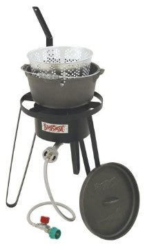 Bayou Classic B159, Outdoor Fish Cooker with Cast Iron Fry PotBayou Classic, Outdoor Fish, Outdoor Cooker, Iron Fries, Fries Pots, Camps Cookware, Classic B159, Cast Iron, Fish Cooker