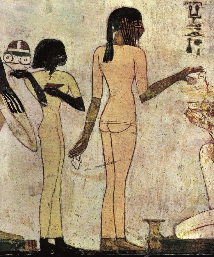 Painting from the tomb of Rechmire,18th dynasty Ancient Egypt