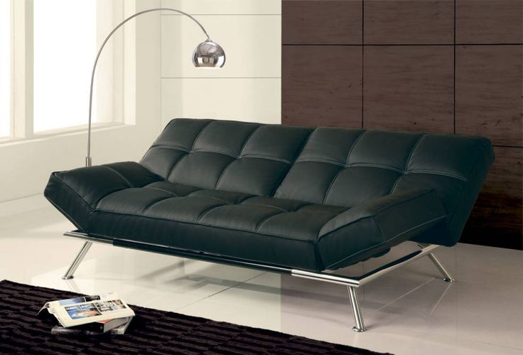 Modern black leather sofa DIVANO LETTO CORSICA : Sofas & armchairs by BEFARA