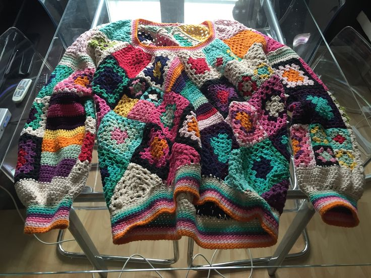 Cotton crochet jumper- front
