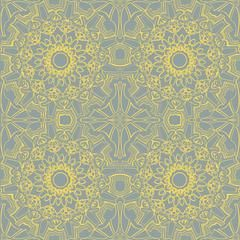 Medallion Self Adhesive Wallpaper in Sunrise design by Tempaper – BURKE DECOR
