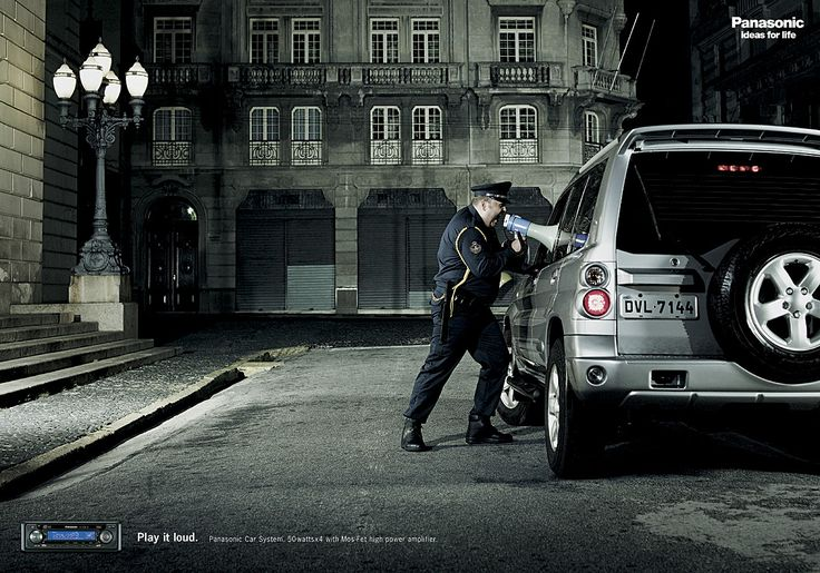 Panasonic Car Audio: Policeman