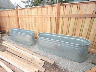 Metal Trough Planters for bamboo -- 52 feet on my west side back yard