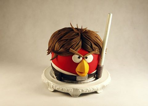 Angry birds star wars 3D cake - Skywalker