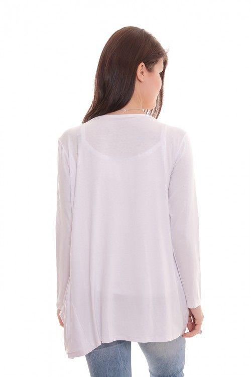 Кардиган А5776 Размеры: 44-54 Цвет: белый Цена: 300 руб.  http://optom24.ru/kardigan-a5776/  #одежда #женщинам #кардиганы #оптом24