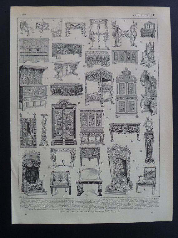 Pictures Of Furniture Styles Antique French By DecorativePrints EUR995