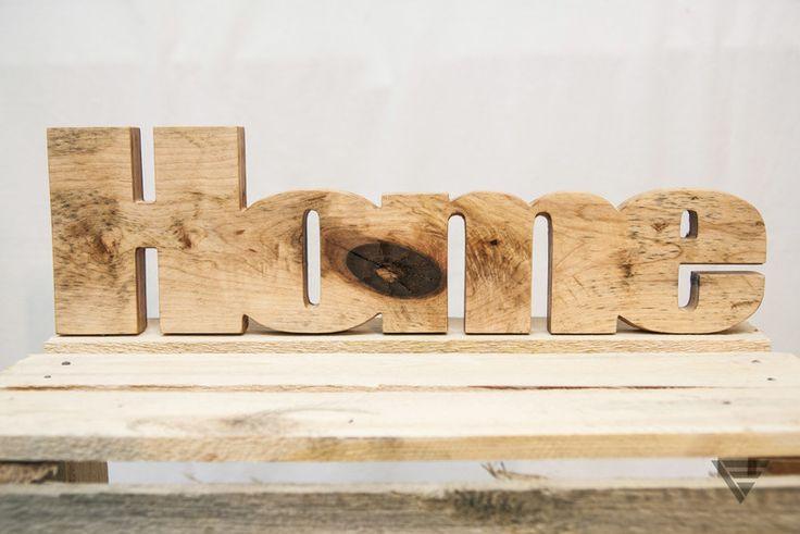"""Drewniany napis """"Home"""" - PiatyElement - Litery i napisy"""
