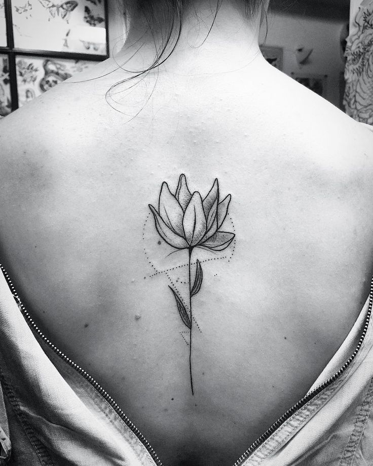Abstract blackwork flower. Great placement.