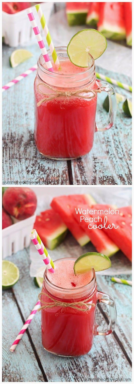 Watermelon Peach Cooler - Food Recipes by Damla (watermelon alcoholic drinks blenders)