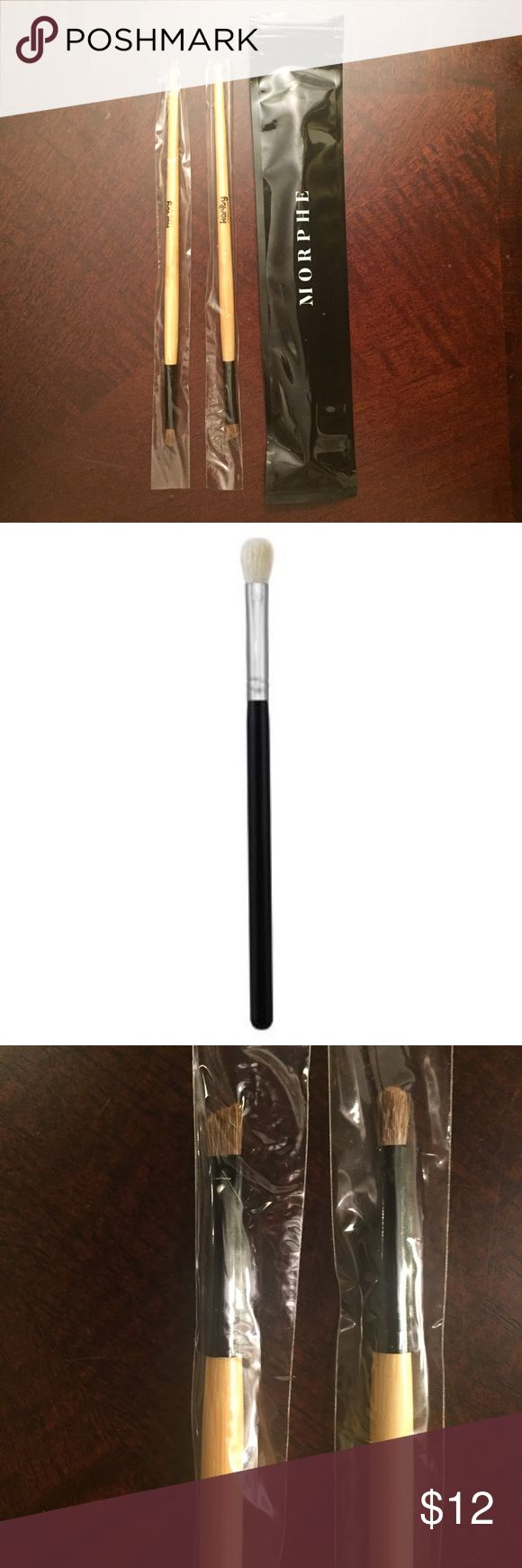 Morphe Blending Brush + Karity Eyeliner Brushes Bundle of three makeup brushes: Morphe M433 Blending Brush for eyeshadow, Karity precision eyeliner brush, and Karity winged eyeliner brush. These are new in original packaging. Morphe Makeup Brushes & Tools