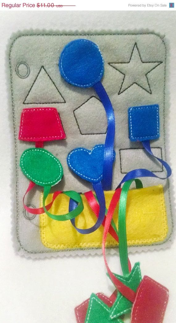 This listing is for 1 learn your shapes quiet book page and can be added to other pages to create the perfect quiet book. Great for matching