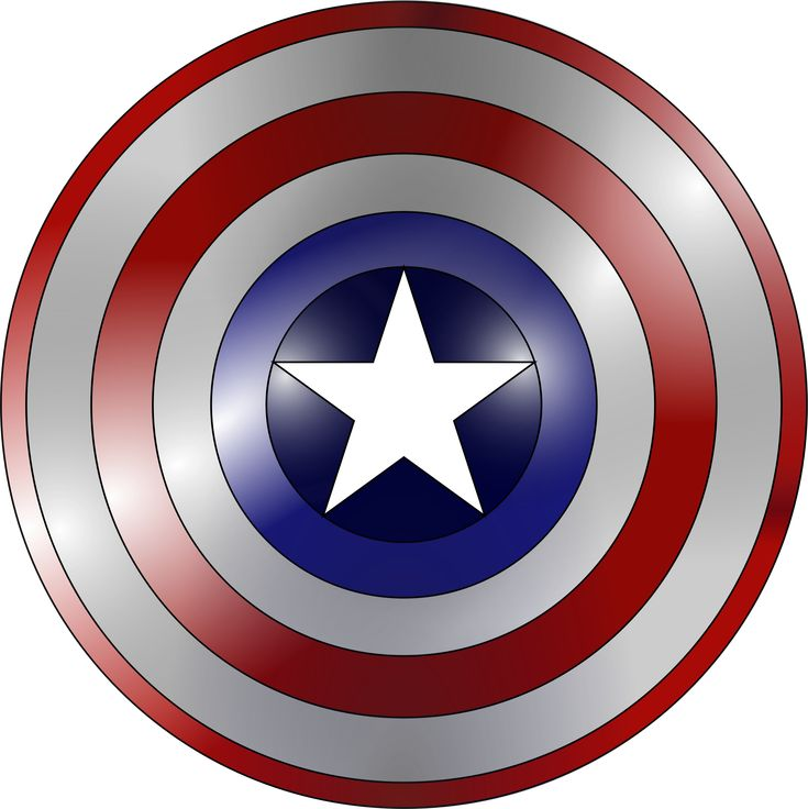 Captain America shield (metal base) by Fred the Oyster