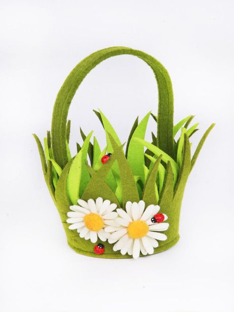 Easter Felt Grass Basket
