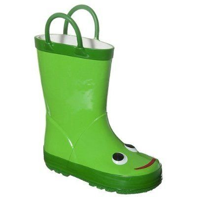 Green Froggy Rain Boots Kids Rain Boots Rain Boots Kid