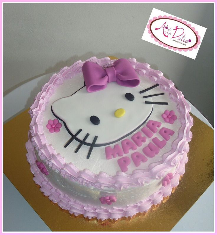 Cake Designs Of Hello Kitty : 17 Best ideas about Kitty Cake on Pinterest Cat cakes ...
