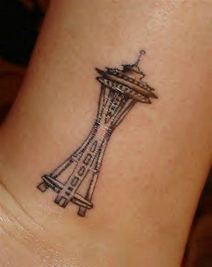 Space Needle Tattoo...cute!