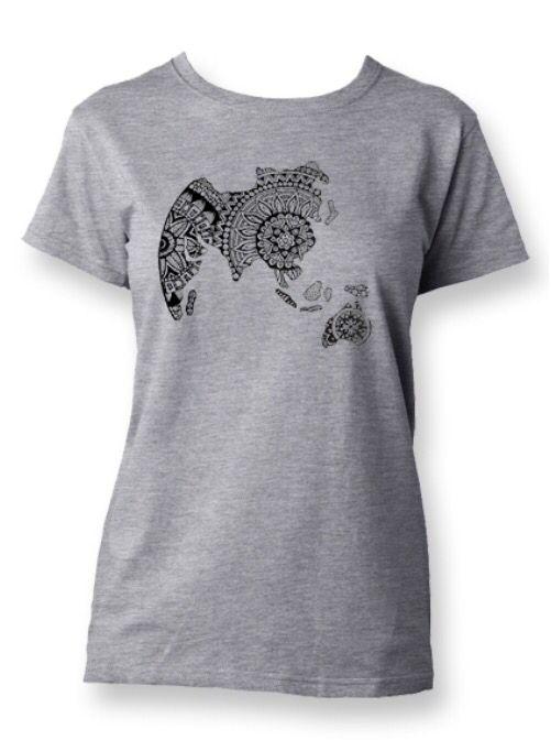 T-shirt Zenworld women grey - Star to China  #zentangle #tshirt #fashion #grey #women #china #design #global #world #star #startochina