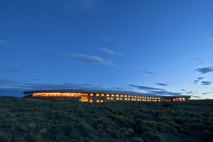 Completed in 2011 in Torres del Paine, ChileThe hotel is located at the northern entrance of Torres del Paine National Park, on the shores of Lake Sarmiento. The place has a great magnitude...