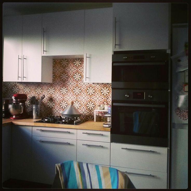 Credence de notre cuisine carreaux de ciment pinterest for Credence cuisine carreaux