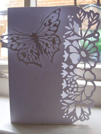 BORDER EDGE CARD 18 with Butterfly SVG on Craftsuprint designed by Clive Couter - svg files
