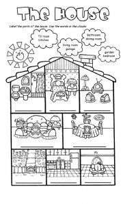 parts of the house for coloring - Buscar con Google