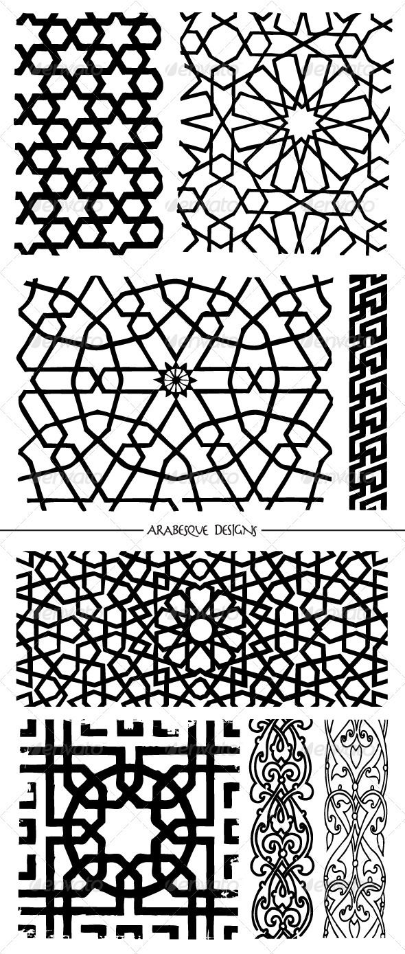 Islamic mosaic patterns river arabesque design for Arabesque style decoration