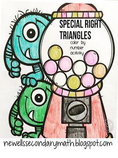 FREE Special Right Triangles Color Activity
