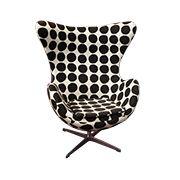 Replica Arne Jacobsen Egg Chair - Black Dot | Sokol Designer Furniture
