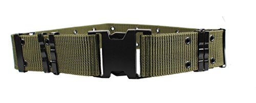 ALAIX Mens Military Style Nylon Survival Tactical Belt 55CM Adjustable With Plastic Buckle Green * You can get additional details at the image link.Note:It is affiliate link to Amazon.