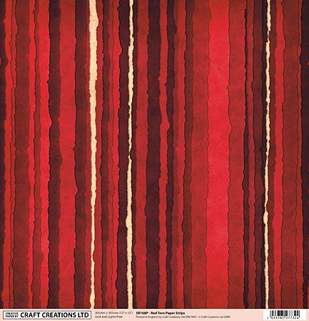 """Red 'torn' effect paper - reduced at 15p per 12"""" x 12"""" sheet"""
