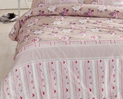 Купить постельное белье ALTINBASAK MISK розовое 70х70 1,5-сп от производителя Altinbasak (Турция)