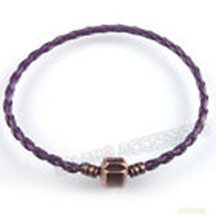 bracciale intrecciato colore viola