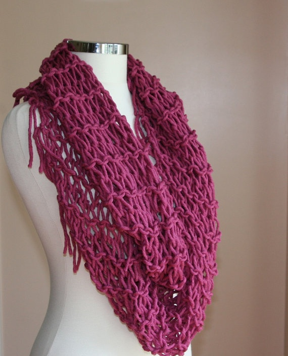 Knit Infinity Scarf How To Knit An Infinity Scarf Beginners
