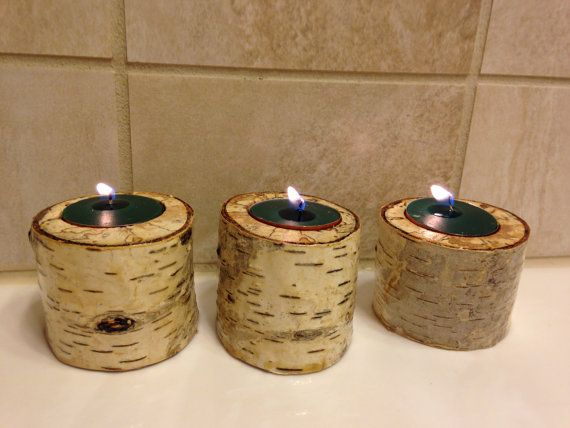 birch candle hold by burningrivershop on Etsy