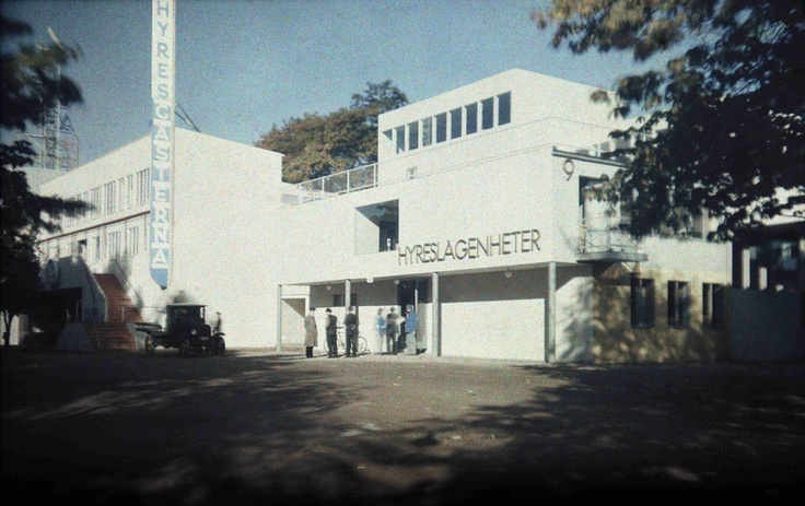 Digitalt Museum - Hall 36: Hyreslägenheter. Arkitekter: Gunnar Sundbärg och Uno Åhrén. Stockholmsutställningen 1930