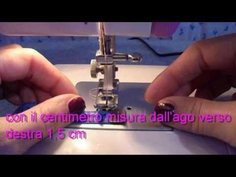 lezione numero 3 come fare le cuciture diritte - YouTube