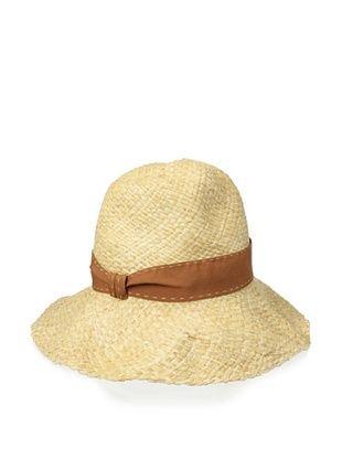 48% OFF Il Cappellaio Women's Cristina Floppy Brim Straw Hat (Natural/Brown)