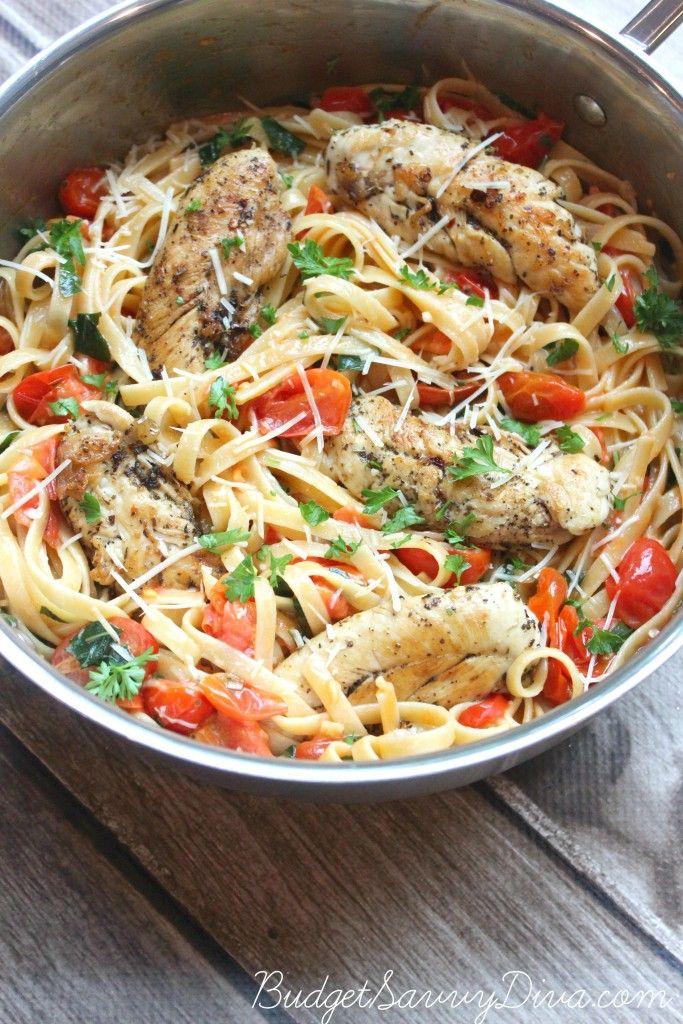Tomato+Basil+Chicken+Pasta