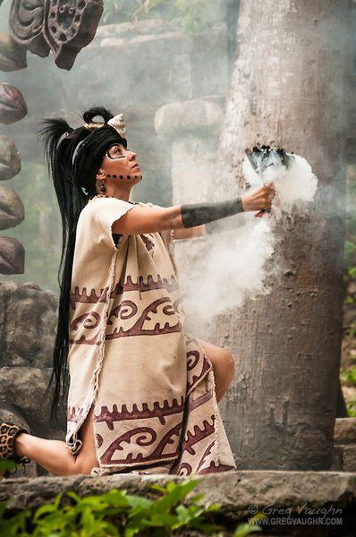 "Maya woman performing in Mayan culture show ""Los Rostros de Ek chuah"" at Xcaret park, Riviera Maya, Mexico by Greg Vaughn"