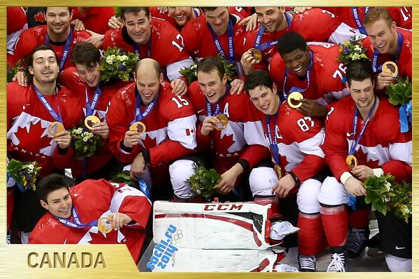Team Canada, 2014 Olympic Gold Medallists