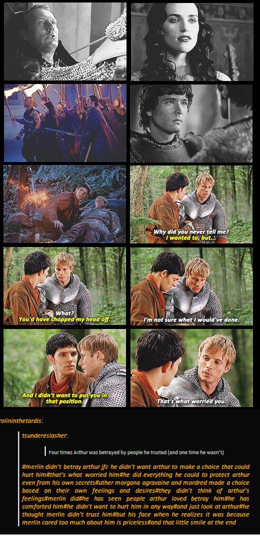 Merlin & Arthur // I didn't need my heart today